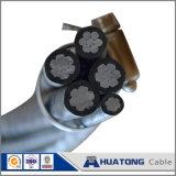 0.6/1KV / XLPE Conducteur PVC Aluminium livré de l'antenne câble câble Twisted ABC