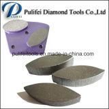 Segmento dobro de moedura da ligação do delicado da forma do círculo para o assoalho concreto