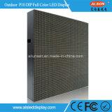 Alto brillo exterior fija DIP DE P10 panel de pantalla LED