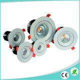 ÉPI en aluminium blanc du boîtier 12W DEL Downlight pour l'éclairage commercial