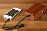 Le bois d'induction de cas Touch portable mobile sans fil haut-parleur mains libres