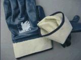 Нитриловые полностью покрыты гильзы цилиндра блокировки нитриловые перчатки (5001)