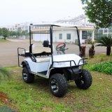 4人の乗客村の休日の電気ハンチングゴルフカート