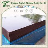 El color 18m m de Brown película de la base del álamo de *8' de una vez 4 ' hizo frente a la madera contrachapada