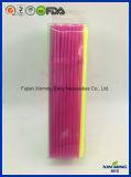 플라스틱 마시는 밀짚 분류한 색깔 PVC는 포장을 상자에 넣는다