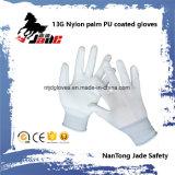 13Gナイロンやし黒PUの上塗を施してある手袋