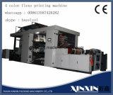 Selbstausschnitt, der 4 Farben-flexographische Drucken-Maschine wickelt