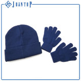 Blauer Spalte-Großhandelswinter-Hut und Handschuhe erwachsen