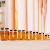 el tarro de cristal de la miel de 300ml 500ml 1000ml para el alimento con la tapa del metal, conserva en vinagre las botellas de cristal