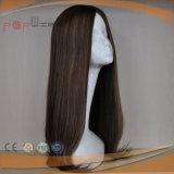 Long Virgin Remy droites Haut de la soie soyeux bon oeil les femmes perruque (PPG-L-0855)