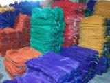 ドローストリングカラー赤い緑40X60cmのRaschelの網袋のRaschel袋ポテトおよびタマネギのための50X80cm