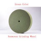 """6개의 """" X1 """" 5p 짠것이 아닌 회전 숫돌 녹색 수세미 패드 지상 조절 바퀴"""