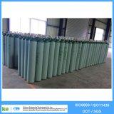 Plus de 50kg 40L 150bar Cylindre de gaz noir et blanc en acier sans soudure