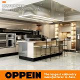 Cabina de cocina coloreada moderna del acero inoxidable de la alta calidad de Oppein con la isla (OP17-ST01)