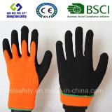 Покрытие нитрила, перчатки работы безопасности отделки Sandy (SL-NS120)