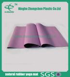 Stuoia di gomma di yoga non di slittamento di Recycleable della natura di gomma piuma della gomma di yoga di forma fisica morbida della stuoia