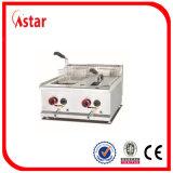 Indonisia Gas Fryer para cocina comercial, control de temperatura Equipo de restaurante para pollo frito, patatas fritas
