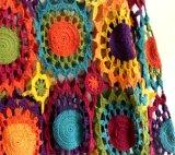 100%년 면 고전적인 포도 수확 긴 손 크로셰 뜨개질 야회복