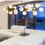 Candelabro Dlss Hotsale para sala de estar Iluminação moderna de vidro LED