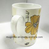 Kop van China van het Been van het Embleem van de Druk van de Kop van de Koffie van het vaatwerk de Ceramische Volledige