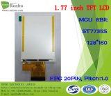 "1.77 "" 128*160 MCU 8bit 20pin hohe Helligkeit kundengerechtes TFT LCD"
