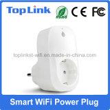 Socket de potencia elegante sin hilos electrónico de WiFi con el tipo soporte Alexa de la UE del enchufe