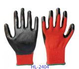 Захвата из нитрила с покрытием полиэстер рабочие перчатки