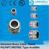 De Prijzen Pg/Metric/NPT van de fabriek passen de Metaal Vernikkelde Klier van de Kabel van het Messing (in NPT)