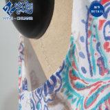 Круглый воротник печать моды платье трубки