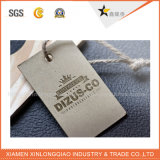 Blanco de cartón de papel del PVC de la ropa etiqueta personalizada impresión etiqueta colgante