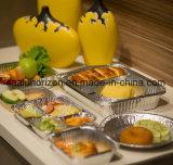 オイルのロースト・チキンのための自由なアルミホイルの皿