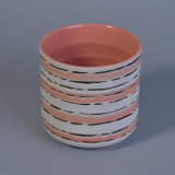 Vaso Handmade della candela con Pattern&#160 naturale;