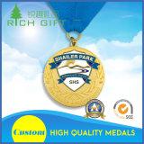 عالة تصميم نوع ذهب مكافأة معدن رياضة وسام