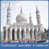 イスラム教の宗教銅のモスクの上のMinarの照明保護装置