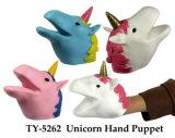 Heißes Feld-Einhorn-Marionetten-Spielzeug