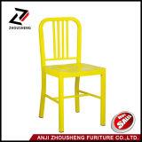 Anji de couleur jaune métal chaise de salle à manger de la Marine ZS-T-1018