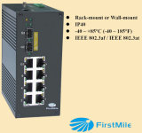 Identification industrielle P510 de commutateur de Poe d'Ethernet de gigabit