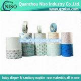 Papel de liberação de rolo Jombo impresso para fraldas de bebê / guardanapos sanitários