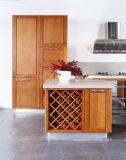 Gabinete de cozinha de madeira natural no estilo europeu