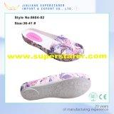 Chaussures occasionnelles estampées par EVA d'extrémité de femme de femmes obligatoires supérieurs de chaussures