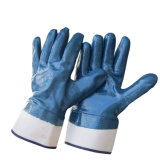 Guanto due volte tuffato del lavoro industriale di sicurezza dei guanti del nitrile della prova di olio
