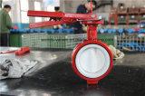 Valvola industriale della farfalla del rivestimento della leva PTFE della mano (D71X-10/16)