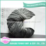 Hilo de colores al por mayor de tejido grueso hilo de lana de oveja de color marrón