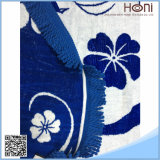 Porcellana blu e bianca Roundies della mandala del tovagliolo di spiaggia rotondo turco con le nappe blu