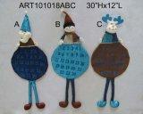 산타클로스, 눈사람 및 Moose+Sparkle 인사말 화환, 3 Asst