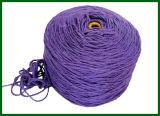 filé de fibre de jute teint par 3ply (pourpré)