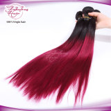 8A Омбре человеческого волоса плетение Virgin прямые волосы 1b/99j цвет