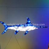 Projeto novo do tubarão do diodo emissor de luz 2017 para o parque temático Dcoration