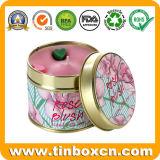 Portavelas de metal redondo para regalo Tins, Viajes tin box