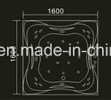 1600mm Groen Vierkant bouwstijl-in Jacuzzi met Ce en RoHS (bij-0767)